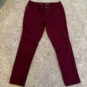The Limited Burgundy Jeans